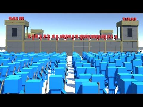 EPIC BLUE Vs RED SIEGE BATTLE! (Ancient Warfare 2)