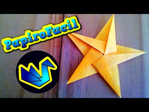Origami Facil || Como hacer una estrella de 5 puntas