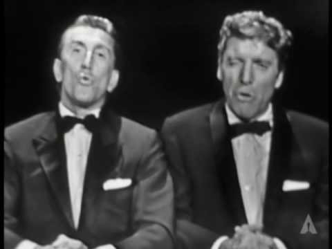 Kirk Douglas and Burt Lancaster at the 1958 & 1959 Oscars