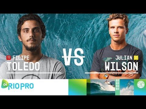 Filipe Toledo vs. Julian Wilson - Semifinals, Heat 1 - Oi Rio Pro 2018