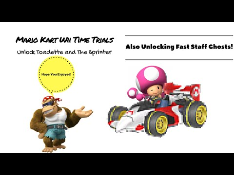 Mario Kart Wii|Time Trials:Unlocking Fast Staff Ghosts:Unlocking Toadette And The Sprinter.