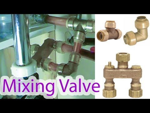 Installation of mixing valve to feed warm water into toilet (reduce condensation)