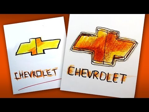 Как рисовать логотип ШЕВРОЛЕ | How To Draw A CHEVROLET Logo
