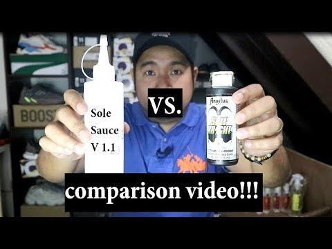 ANGELUS SOLE BRIGHT vs HOME MADE SOLE SAUCE (comparison video)