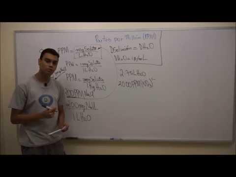 Partes por Millón (PPM) de una Solución - Concepto y Ejercicio #1