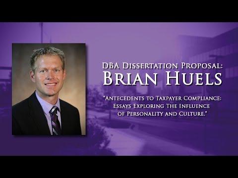 DBA Dissertation Proposal: Brian Huels