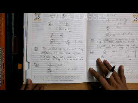 APPLICATION OF DERIVATIVE EXERCISE 6 1 RATE OF CHANGE CLASS XII QUESTION 1  TO 10 SOLUTION CBSE NCERT