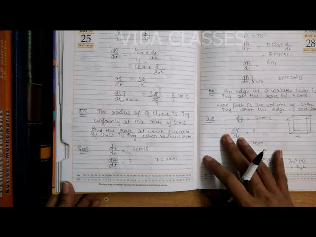 APPLICATION OF DERIVATIVE EXERCISE 6.1 RATE OF CHANGE CLASS XII QUESTION 1 TO 10 SOLUTION CBSE NCERT