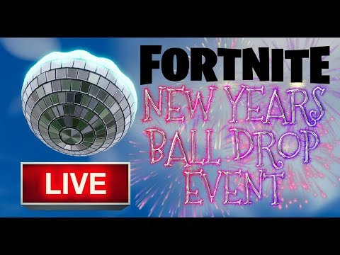 FORTNITE - NEW YEARS EVE EVENT LIVE - BALL DROP IN GAME ...