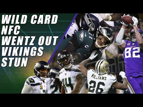 NFC Wild Card: Saints Cursed, Wentz Hurt