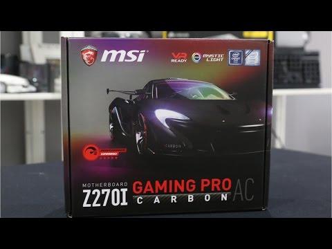 MSI Z270i Gaming Pro Carbon AC ITX Kaby Lake Motherboard