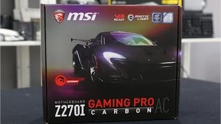 MSI Z270i Gaming Pro Carbon AC ITX Kaby Lake Motherboard