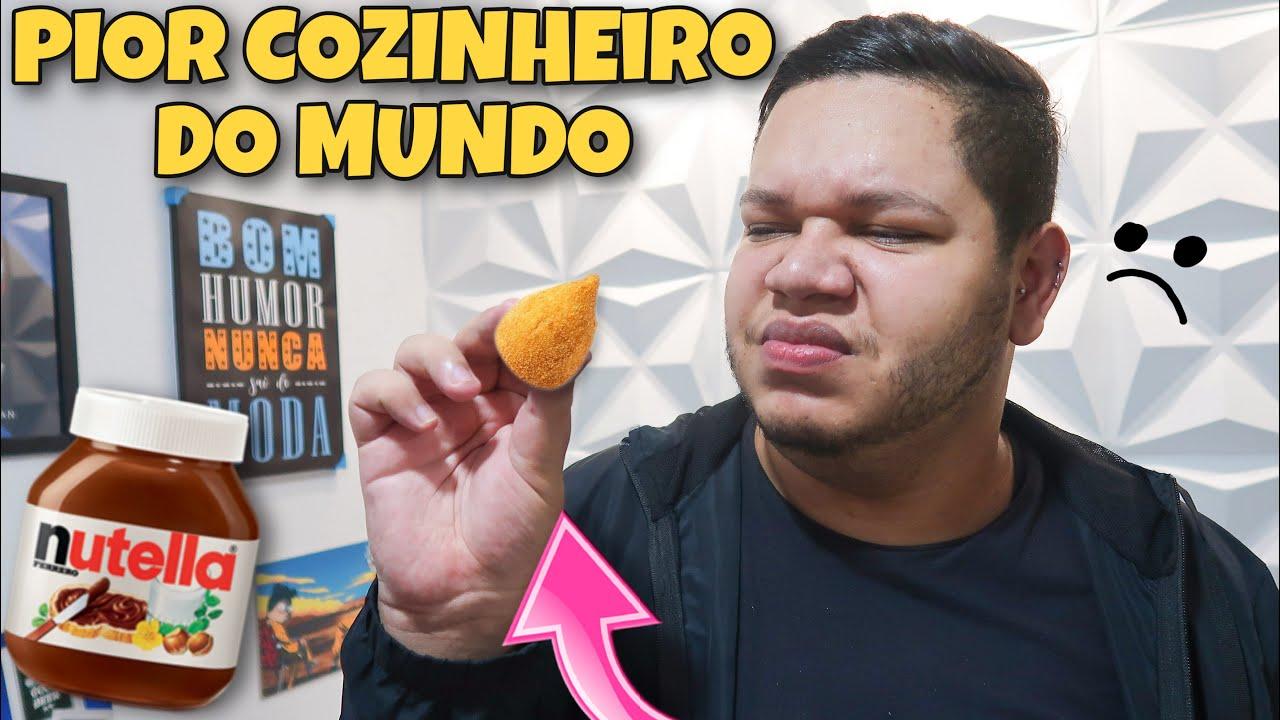 FIZ COXINHA DE LEITE NINHO COM NUTELLA E DEU RUIM