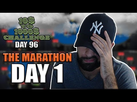 TRY NOT TO CRY CHALLENGE! - 10$ TO 1000$ CHALLENGE (THE MARATHON: DAY 1) - DAY 96