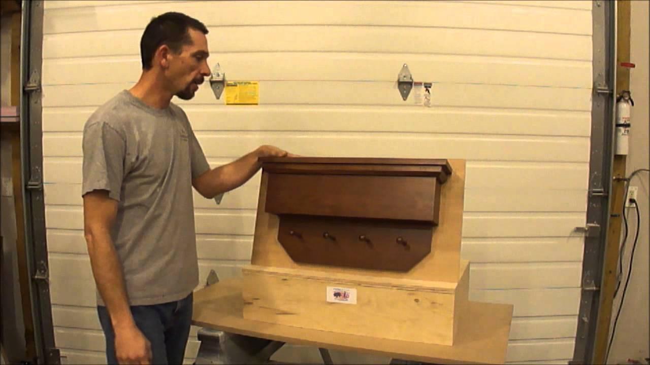NJ Concealment Furniture Angled Coat Rack