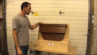 Nj Concealment Furniture/ Angled Coat Rack