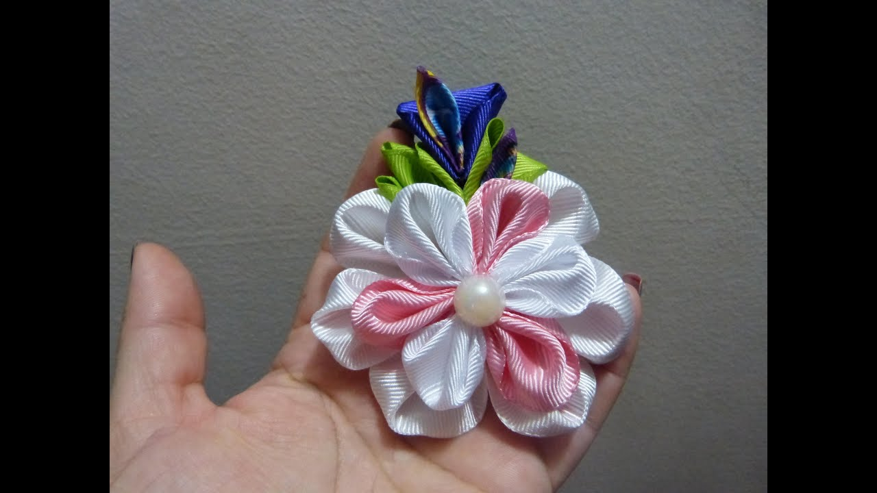 how to make beautiful ribbon flowers