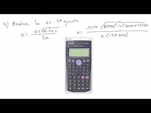 Calculo de la TIR usando una calculadora CASIO fx-991ES