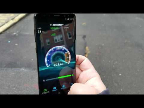 Cat 16 Galaxy S8+ on a T-Mobile LTE-A network
