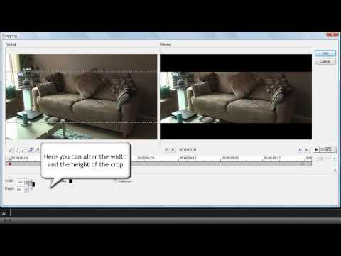 Corel Video Studio Pro X2 Tutorial, Cropping Your Videos For That Cinematic Widescreen Look