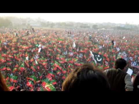 Salman Ahmad Junoon @ Imran Khan Jalsa - Karachi, Pakistan (Onstage Perspective)