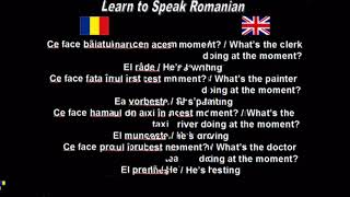 Learn to Speak Romanian 28. What is he doing?