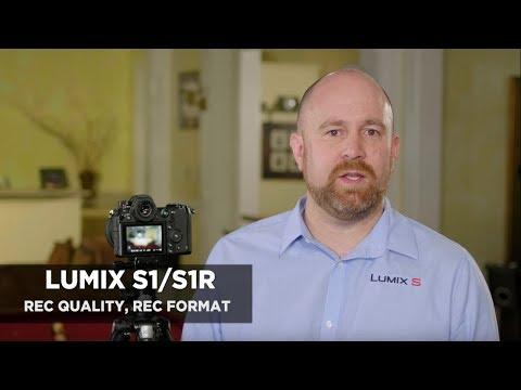 Panasonic LUMIX S Series Camera Tutorial: Recording Image Quality & Format