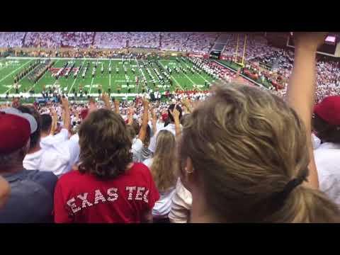 Texas Tech vs Arizona State 2017 pre-game video/band/entrance