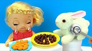 БЕДНЫЙ ЗАЙКА Объелся Шоколадных Шариков #Кукла Соня Плачет Игрушки Для девочек