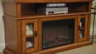 "Classicflame Brookfield 26"" Electric Fireplace Entertainment Center In Premium Oak - 26mm2209-o107"