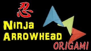 How to Make Ninja Paper Arrowhead Flying Flicker - Origami Tutorial【OEnS】
