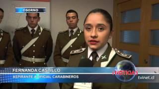 Cuatro jóvenes osorninos difunden ingreso a la Escuela de Carabineros