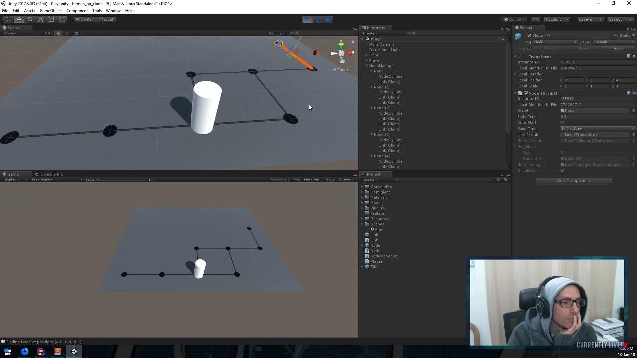 2018-01-13 LiveStream Unity Gamedev Session - Hitman GO Clone
