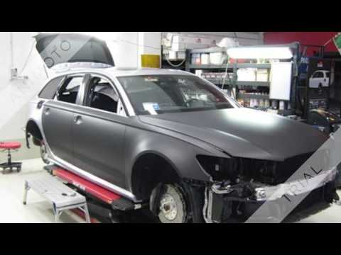 Audi RS6 wrapping nero opaco