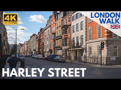 4K London Walk | Autumn in Central London | Harley Street to Great Portland Street and BBC HQ 🇬🇧