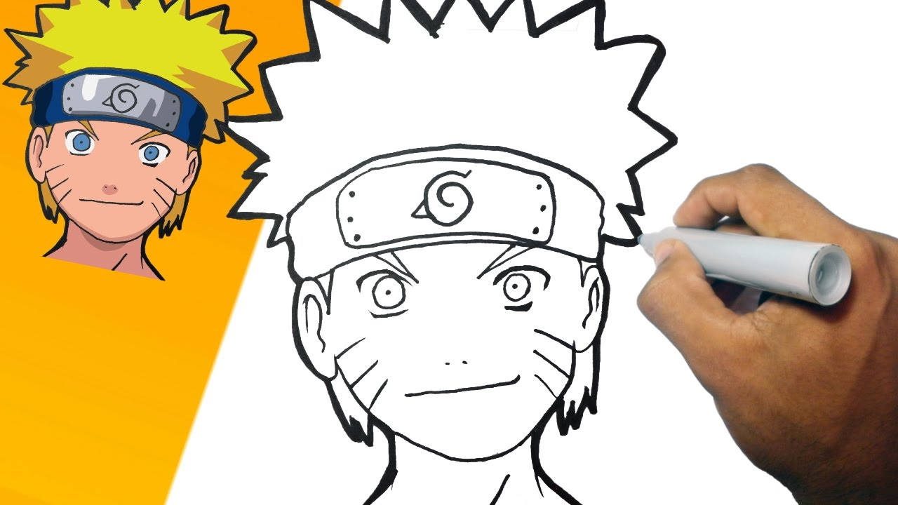 Como dibujar a naruto paso a paso how to draw naruto for Comedor facil de dibujar