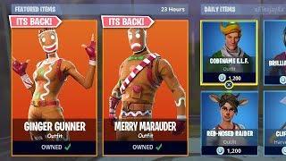 * OG * MERRY MARAUDER & GINGER GUNNER SKINS (Fortnite Item Shop 21 de dezembro)