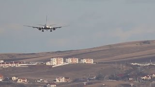 Sidewind landing at Cluj Napoca Airport