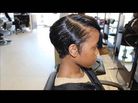 Salon Work| Meagan Good inspired cut... (from natural to relaxed ...