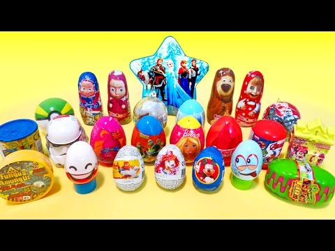Easter Surprise Eggs opening Party! 30 surprise eggs and blind bags toys basket for kids