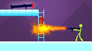 INTENSE STICKFIGHT FLAMETHROWER BATTLE! (Stick Fight)