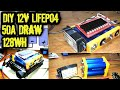 DIY LiFePO4 Battery Pack Headway 38120 50A/128wh
