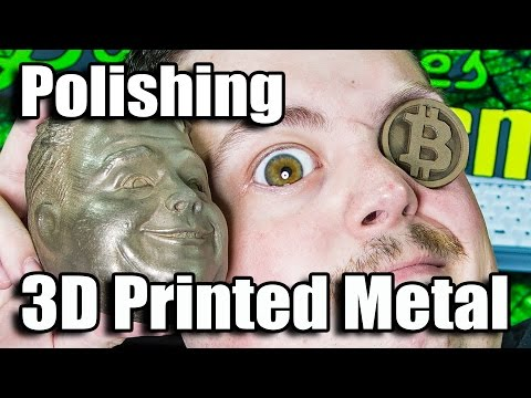 Polishing 3D Printed Bronze W/ Rock Tumbler & Steel Pins