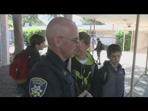 Vacaville Officer Using Stickers For School Outreach - And Students Are Loving It