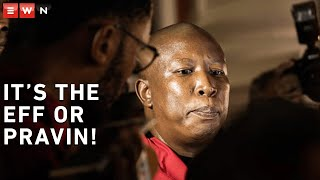 Julius Malema and the EFF walked out of the 2020 State of the Nation address after demanding that former President FW de Klerk leave the house and that President Cyril Ramaphosa must fire Pravin Gordhan.    EFF Leader Julius Malema said that Ramaphosa will have to choose between the EFF and Gordhan before order will be restored.      #JuliusMalema #EFF #Sona2020
