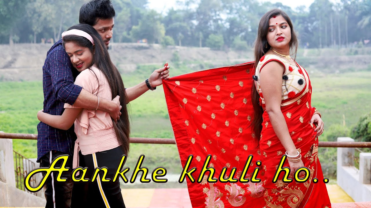 Aankhein khuli ho ya band | Mohabbatein || cute love story || Ft.Cute Nandini || Flyingbird