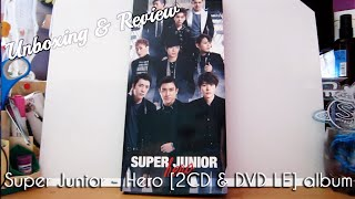 Super Junior - Hero [2CD & DVD Limited Edition Version] Unboxing & Review