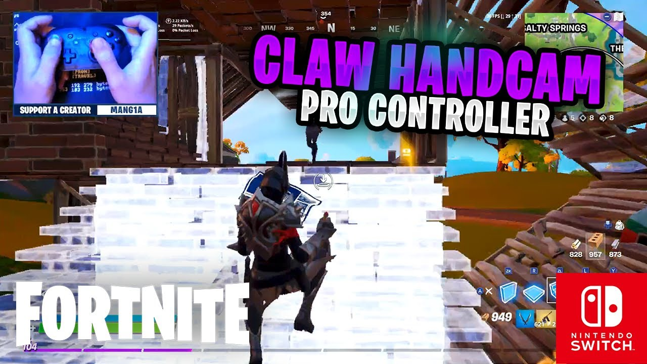 CLAW HANDCAM - Fortnite on the Nintendo Switch Pro Controller #96