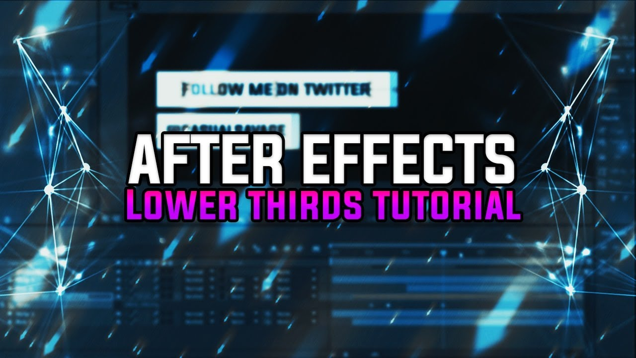 Stage lighting in after effects cs4 youtube - How To Create Lower Thirds In Adobe After Effects Cc