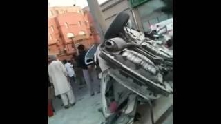 حادث شنيع بين دورية شرطة وسيارة مدنية - جدة السعودية